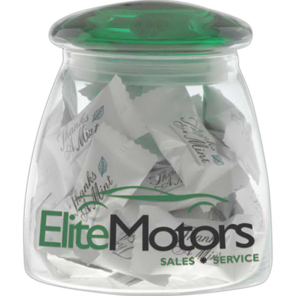 Promotional Large Vibe Candy Jar with Arch Lid
