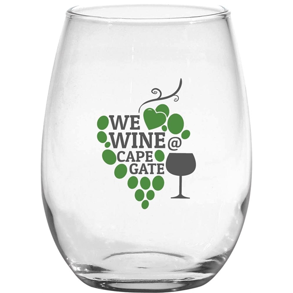 Custom Stemless White Wine Glass