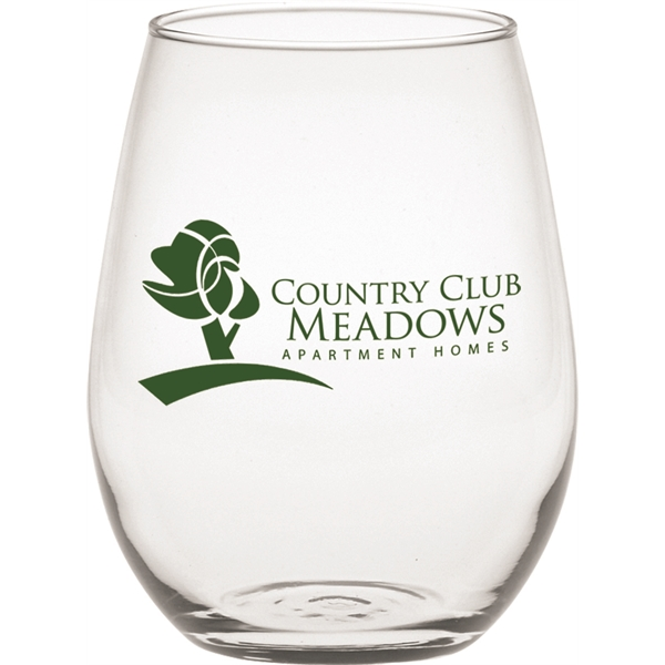 Printed Stemless Mini White Wine