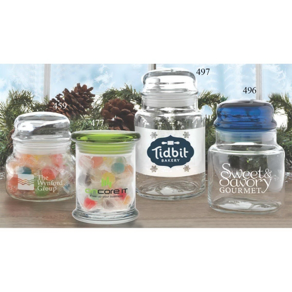 Personalized Flair Apothecary Jar with Flat Lid