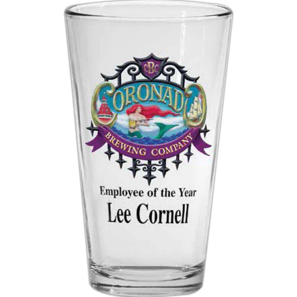 Imprinted 16 oz pint glass
