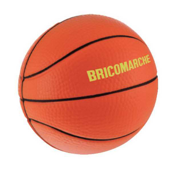 Imprinted Basketball Stress Reliever