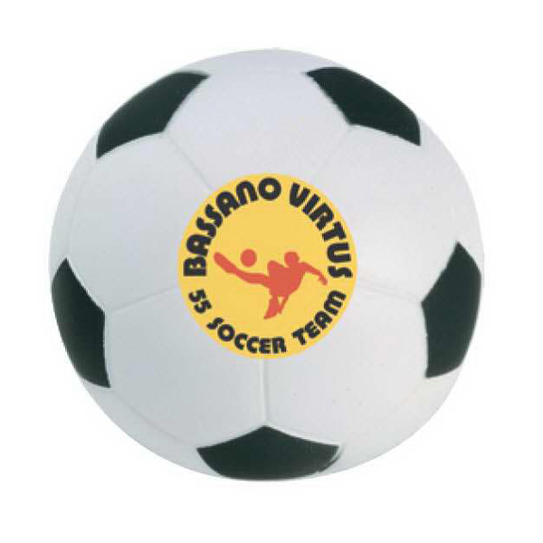 Printed Soccer Ball Stress Reliever