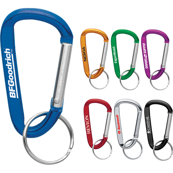 Personalized Carabiner with Split Key Ring