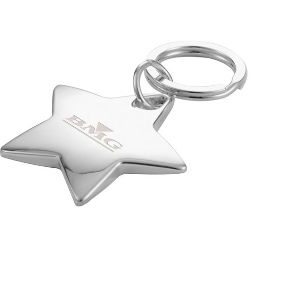 Imprinted Star Shaped Key Ring