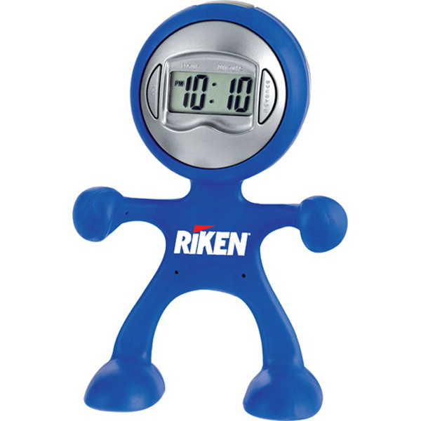 Imprinted The Flex Man Digital Clock