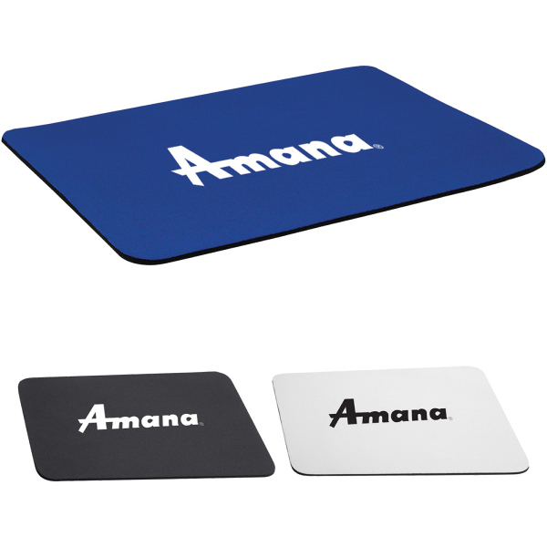 "Promotional 1/8"" rectangular foam mouse pad"