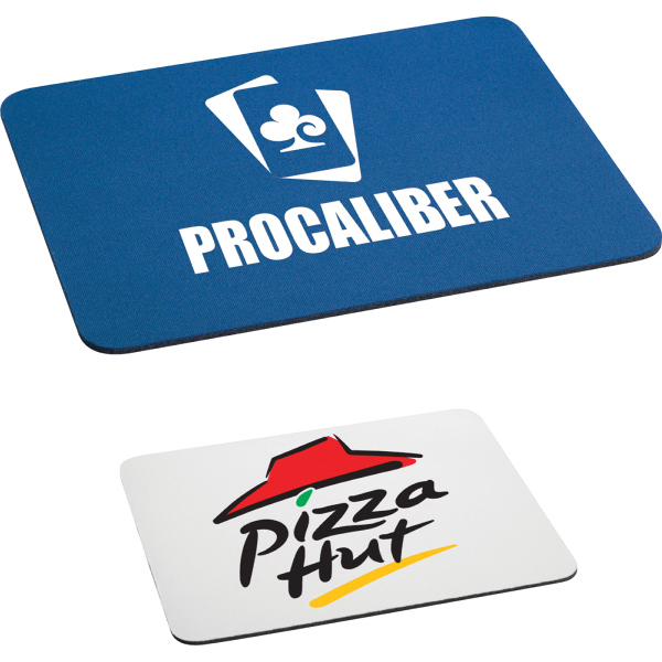 """Printed 1/8"""" rectangular rubber mouse pad"""