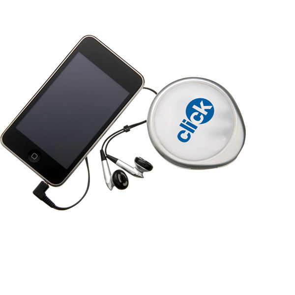 Imprinted Deluxe Travel Earbuds