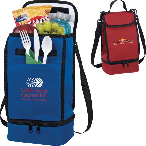 Promotional Dual Compartment Insulated Lunch Bag