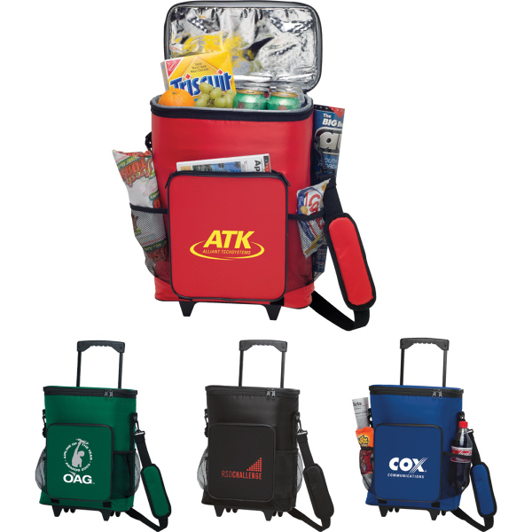 Customized 30-Can Rolling Insulated Cooler Bag