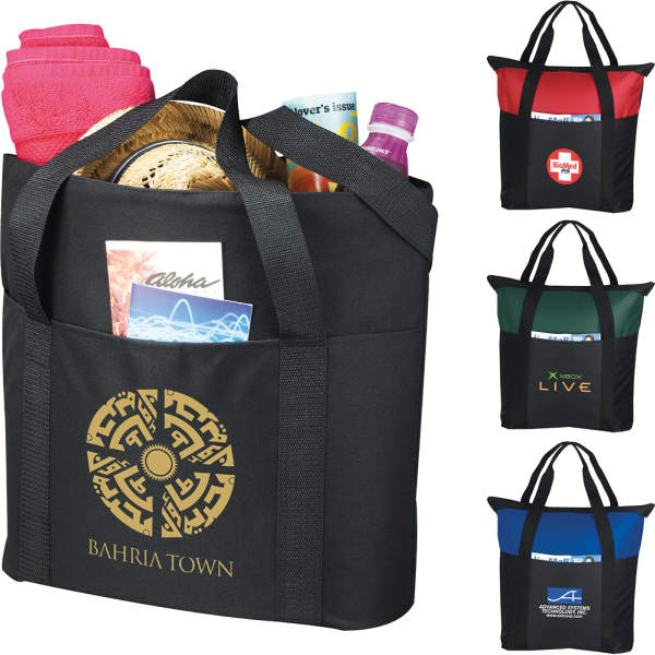 Personalized Heavy Duty Zippered Business Tote Bag