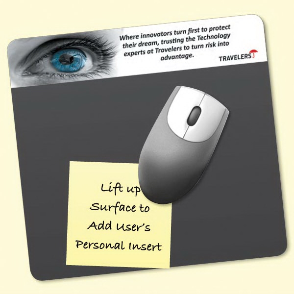 "Imprinted Frame-It Lift® 7.5""x8""x1/8"" Window Mouse Pad"