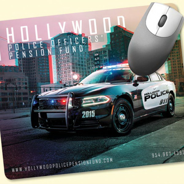 """Printed Vynex® Heavy Duty 8""""x9.5""""x1/16"""" Hard Surface Mouse Pad"""