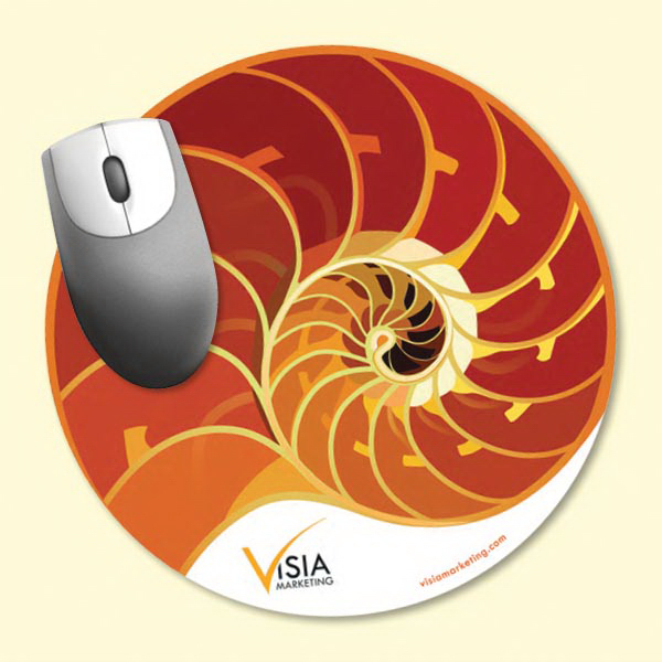 "Printed Vynex® Heavy Duty 8""dia.x1/16"" Hard Surface Mouse Pad"