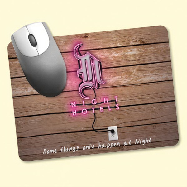 "Personalized Vynex® Heavy Duty 6""x8""x1/8"" Hard Surface Mouse Pad"