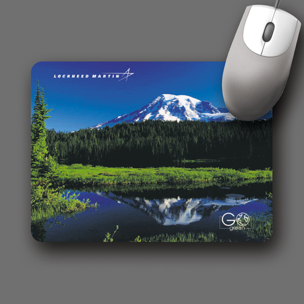 "Imprinted ReTreads (R) 6""x8""x3/32"" Recycled Tire Mouse Pad"