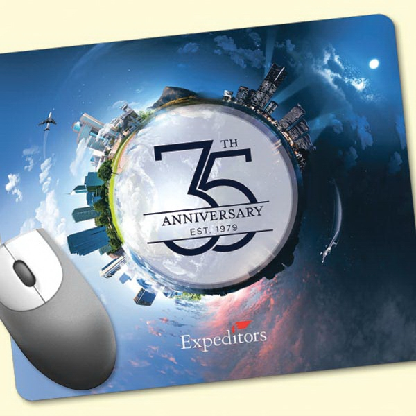 "Promotional ReTreads (R) 8""x9.5""x3/32"" Recycled Tire Mouse Pad"