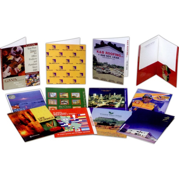 Imprinted Film Laminated Presentation Folder