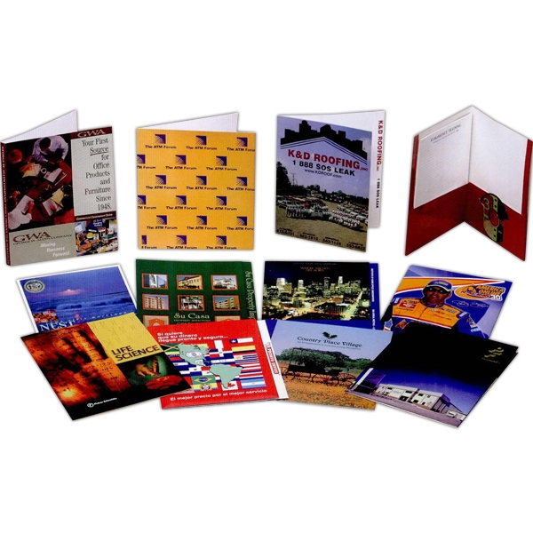 Custom film laminated presentation folder usimprints for Custom laminations