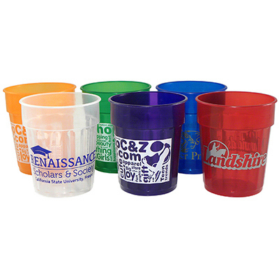 Promotional 16 oz Fluted Jewel Stadium Cup