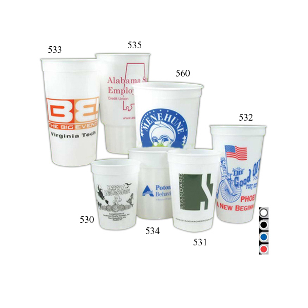 Customized 24 oz Fluted Glow Stadium Cup