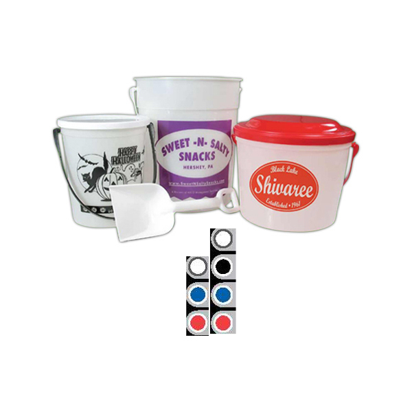 Customized Printed 32 oz Pail Flat Lid