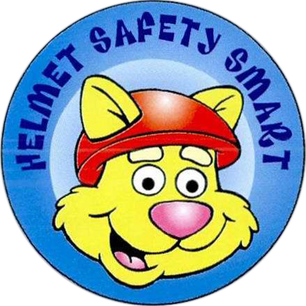 Printed Helmet Safety Smart Sticker Rolls
