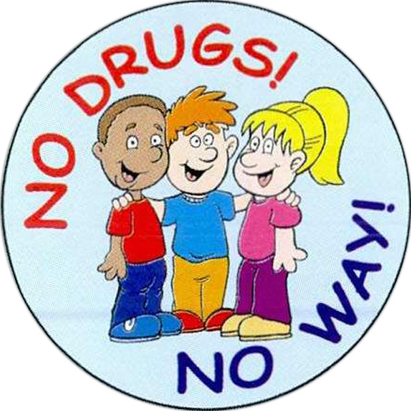 Custom No Drugs No Way Sticker Rolls