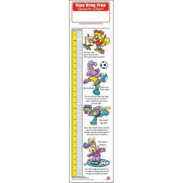 Personalized Stay Drug Free Growth Chart
