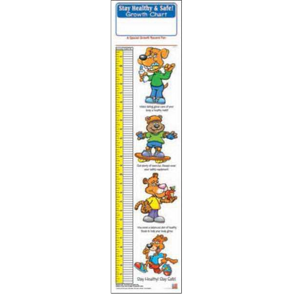 Promotional Stay Healthy And Safe Growth Chart