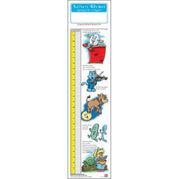 Printed Nursery Rhymes Growth Chart