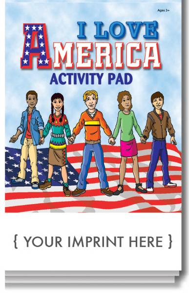 Custom I Love America Activity Pad