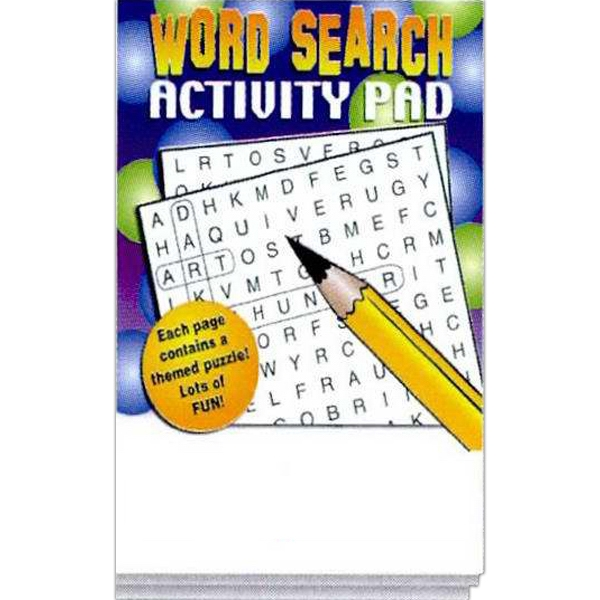 Printed Word Search Activity Pad Fun Pack