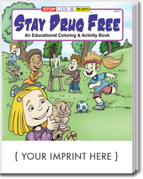Printed Stay Drug Free Coloring and Activity Book