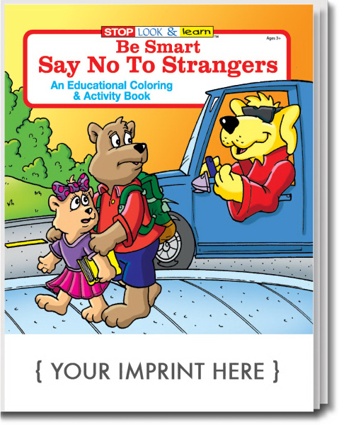 Personalized Be Smart, Say No to Strangers Coloring and Activity Book