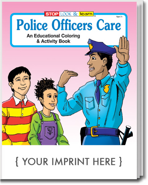 Imprinted Police Officers Care Coloring and Activity Book