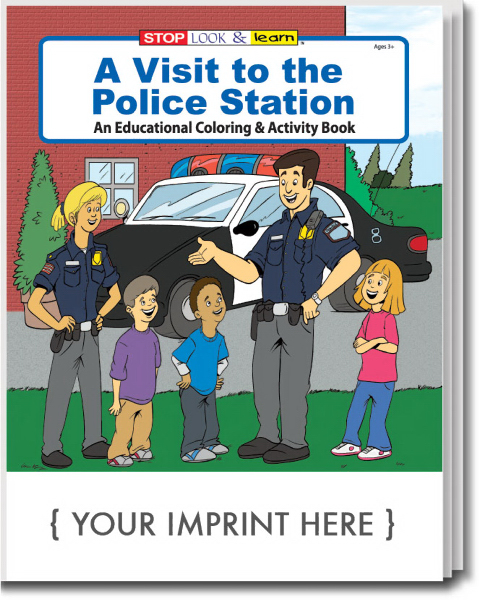 Custom A Visit to the Police Station Coloring and Activity Book