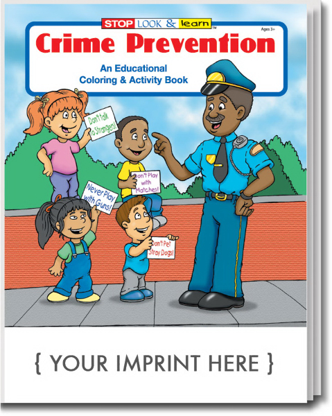 Personalized Crime Prevention Coloring and Activity Book