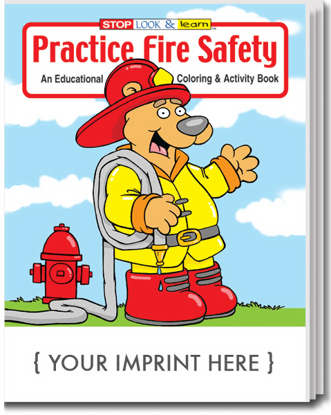 Customized Practice Fire Safety Coloring and Activity Book