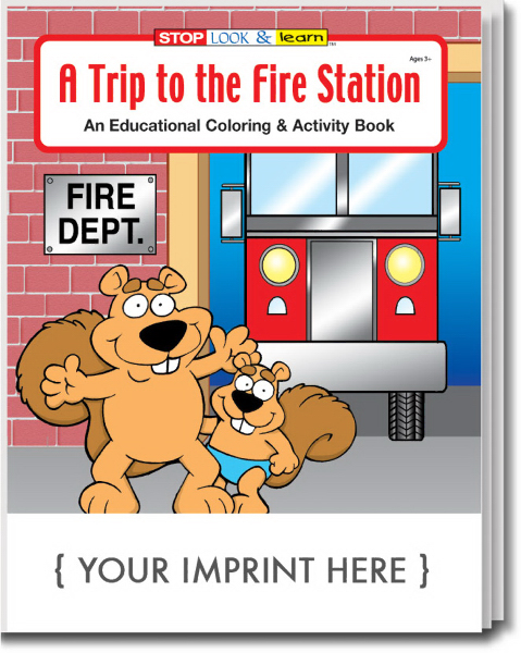 Imprinted A Trip to the Fire Station Coloring and Activity Book