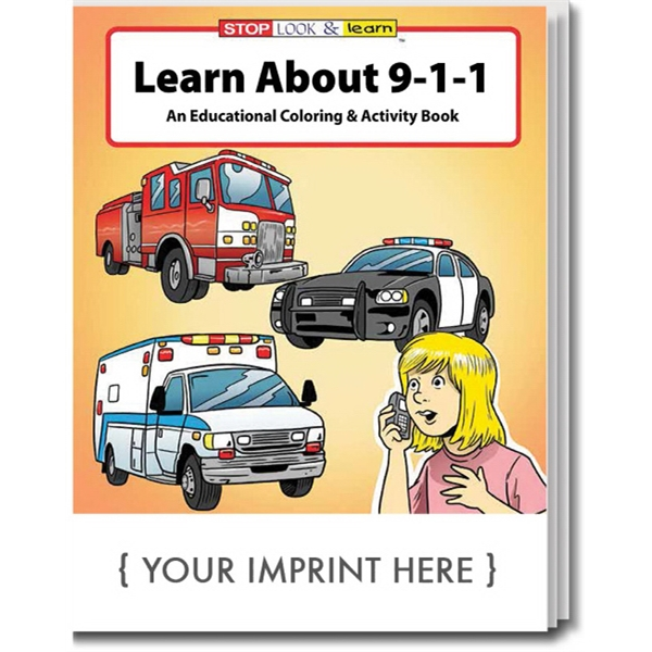 Personalized Learn About 9-1-1 Coloring and Activity Book