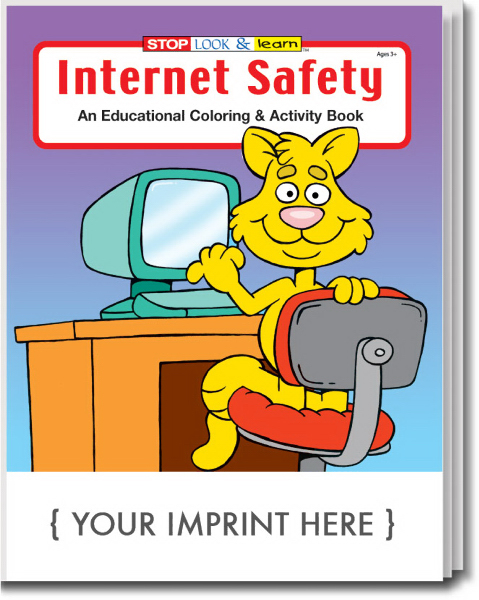 Custom Internet Safety Coloring and Activity Book