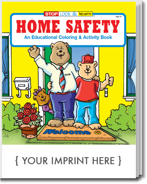 Customized Home Safety Coloring and Activity Book