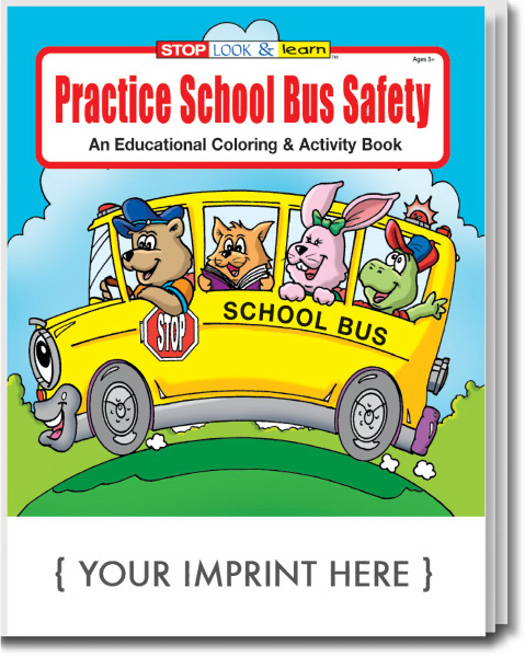 Imprinted Practice School Bus Safety Coloring and Activity Book