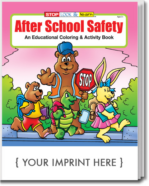 Imprinted After School Safety Coloring and Activity Book