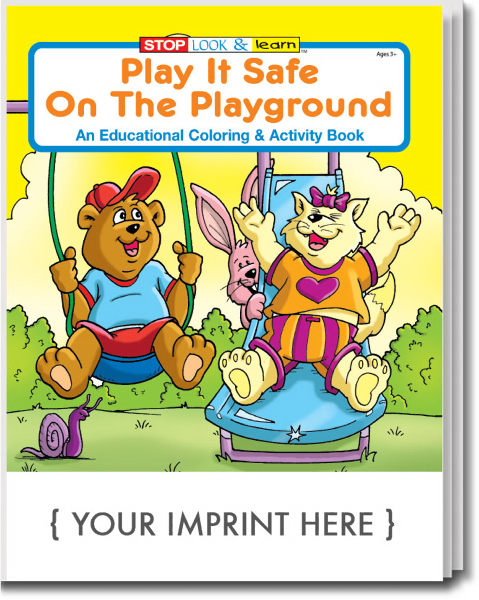 Personalized Play It Safe On The Playground Coloring and Activity Book