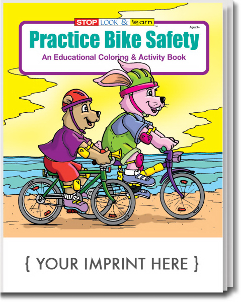 Imprinted Practice Bike Safety Coloring and Activity Book