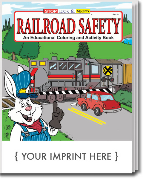 Imprinted Railroad Safety Coloring and Activity Book