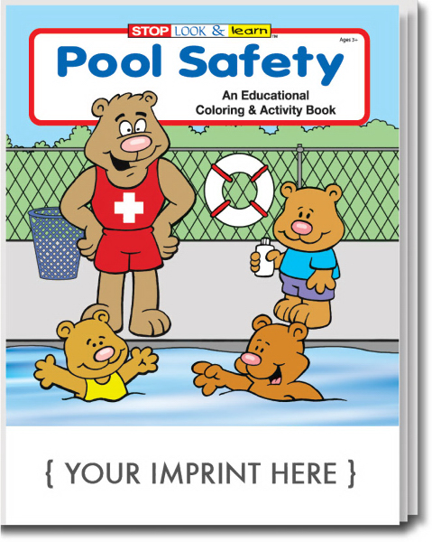 Custom Pool Safety Coloring and Activity Book